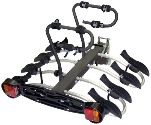 Mottez porte velo plateforme sur attelage premium 4 velos - Porte velo 4 velos sur attelage thule ...